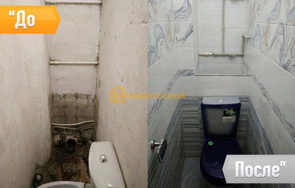 Укладка плитки в туалете СПБ