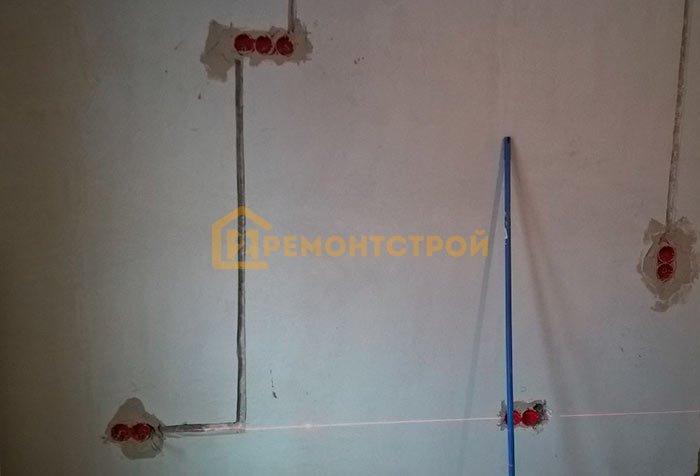 Фото замены проводки в однокомнатной квартире