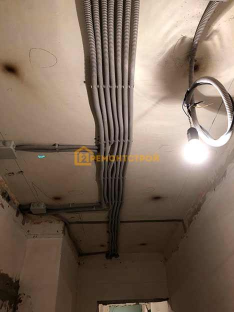 Фото замена электропроводки в двухкомнатной квартире под ключ
