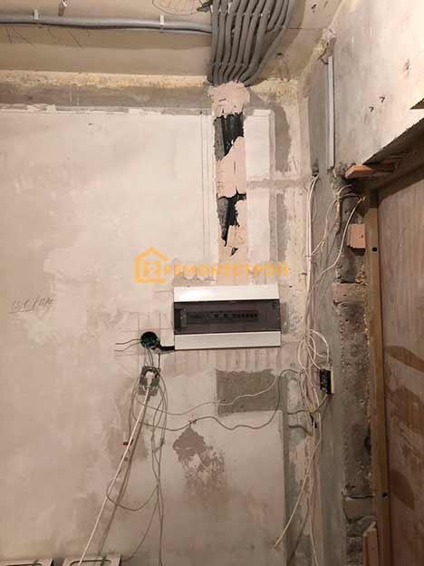 Фото замены электропроводки в 2 комнатной квартире под ключ