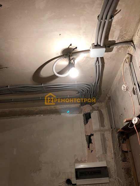 Фото замены проводки в двухкомнатной квартире под ключ