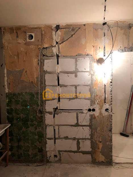 Фото замены электропроводки в двухкомнатной квартире