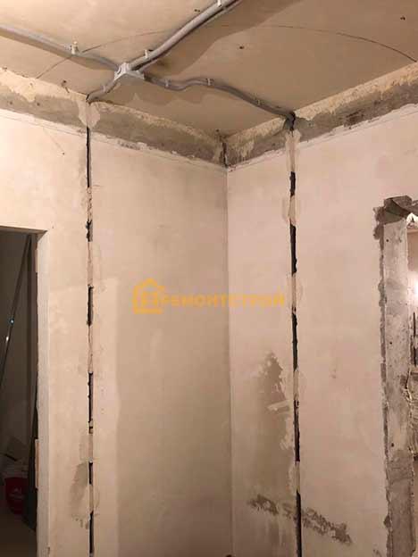 Фото замены электропроводки в 2 комнатной квартире