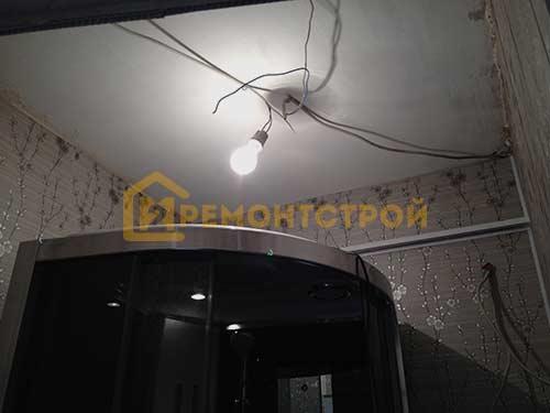 Фото монтажа освещения в хрущёвке