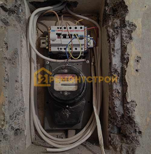 Фото установки автоматов УЗО в хрущевке