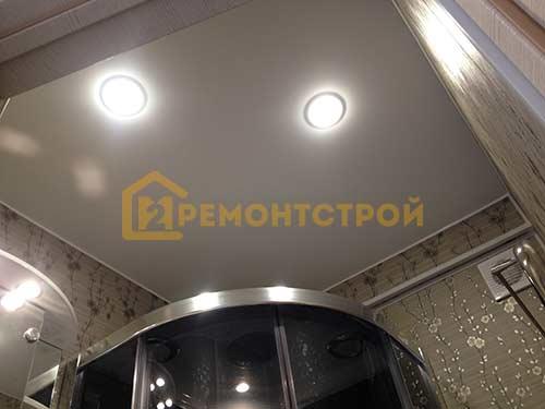 Фото установки точечных светильников в ванной в хрущевке