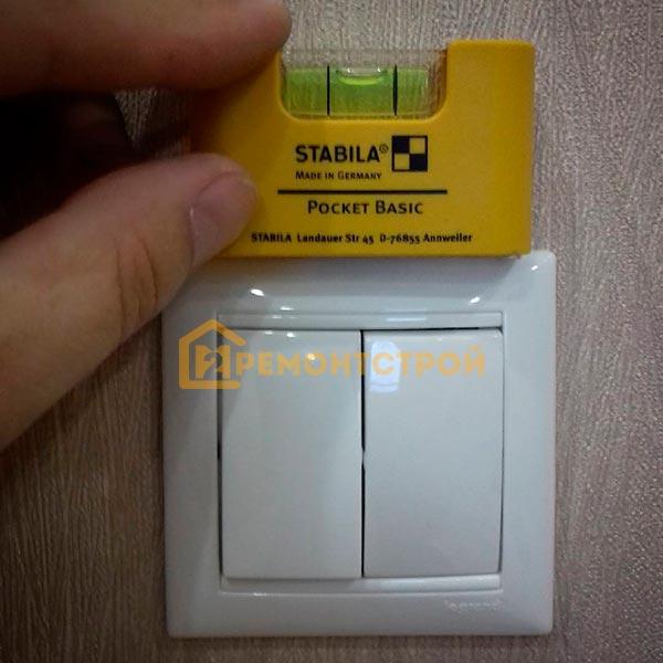 Фото установки двухклавишного выключателя в СПб