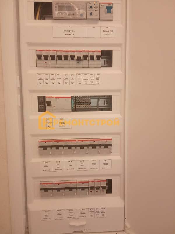 Фото сборка и установка электрощита в Санкт-Петербурге
