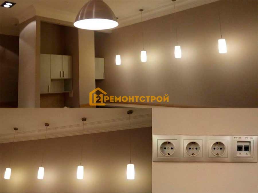Фото новой электропроводка на кухне в Санкт-Петербурге