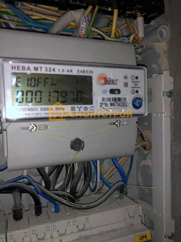 Фото установка электросчетчика нева в СПБ