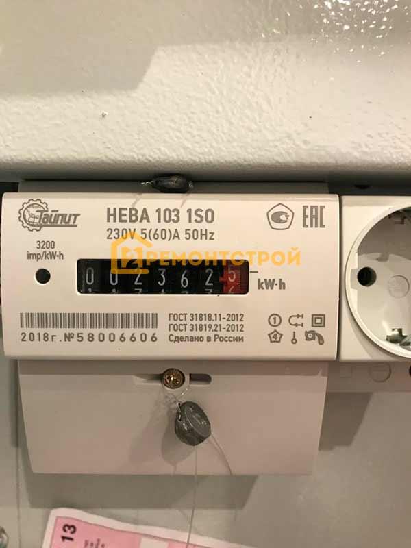 Фото установка электросчетчика нева