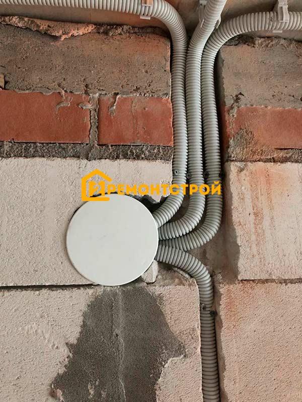 Фото электропроводка в доме из газобетона
